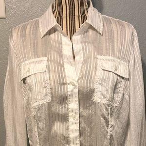 Calvin Klein white button shirt transparent